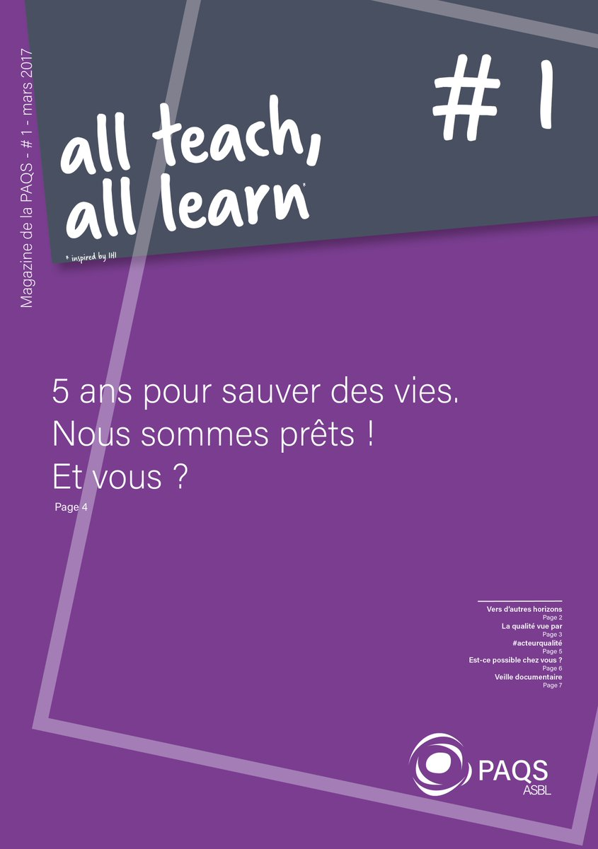 Partage d&#39;évènement indésirable dans le #magazine 1 :  http:// goo.gl/uyMFd8  &nbsp;   #allteachalllearn #acteurqualité<br>http://pic.twitter.com/clszB9ce2m
