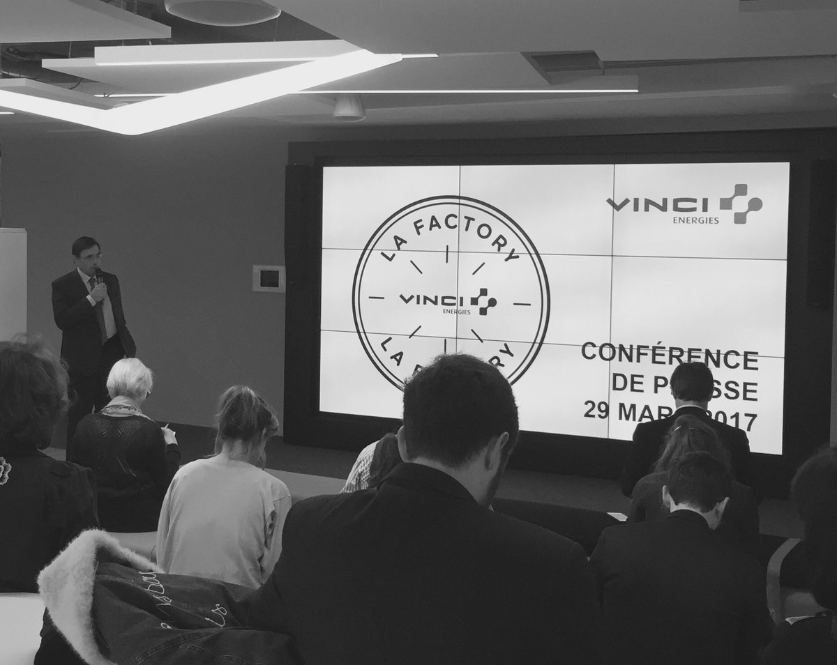 Conférence de presse @VINCIEnergies lancement de #LaFactory #openinnovation #transitionenergetique <br>http://pic.twitter.com/QXuDS9VsHI