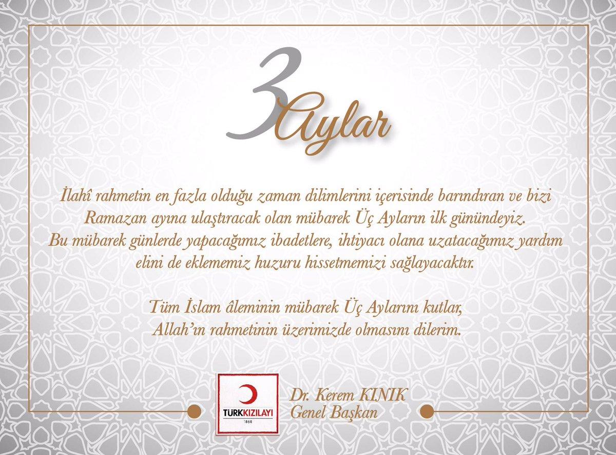 Tüm İslam aleminin mübarek #3Aylar 'ını tebrik eder. Bu mübarek günler...