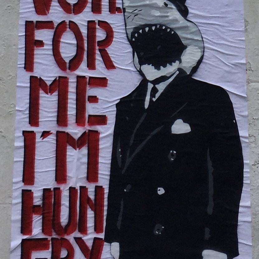 Papier collage - Votez pour moi j&#39;ai faim - Votez et votez bien ! #democratie #democracy #streetstyle #élections #…  http:// ift.tt/2o5T6gQ  &nbsp;  <br>http://pic.twitter.com/axNH2JlqZR
