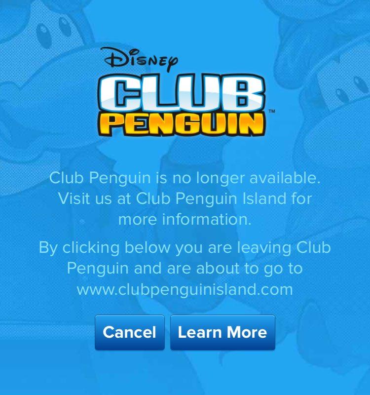 RIP Club Penguin https://t.co/jRUHOfeKg2