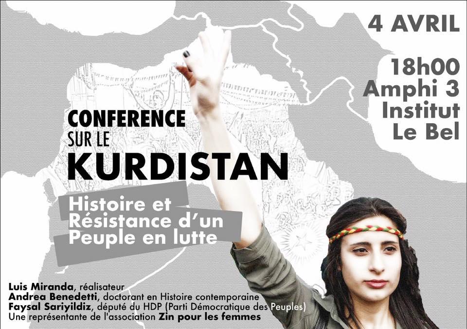 #STRASBOURG, #CONFÉRENCE SUR LE #KURDISTAN &quot;Histoire et #résistance d&#39;un peuple en lutte #Kurdes<br>http://pic.twitter.com/HHq773kkae