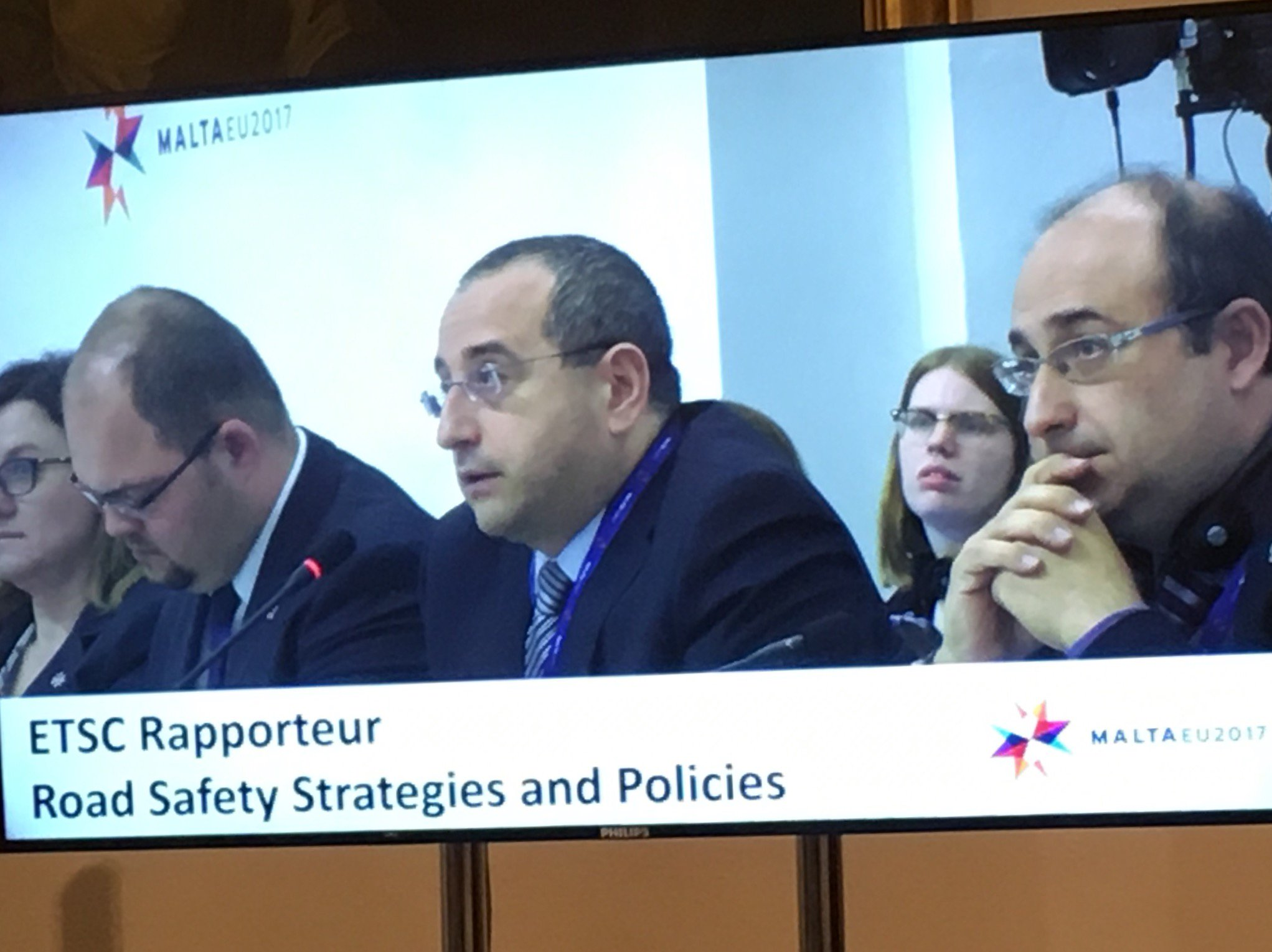 Antonio Avenoso of ETSC urges transport ministers to commit to new targets and actions to prevent road deaths. #eu2017mt #roadsafety https://t.co/hCnRXq7D8O