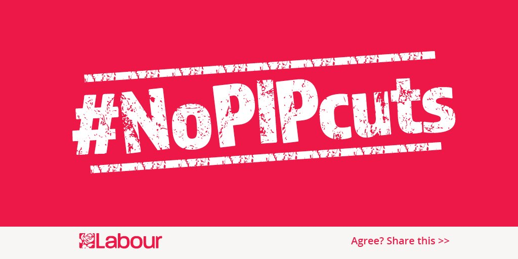Today, we will lead an emergency debate on the govt's cuts to PIP for...