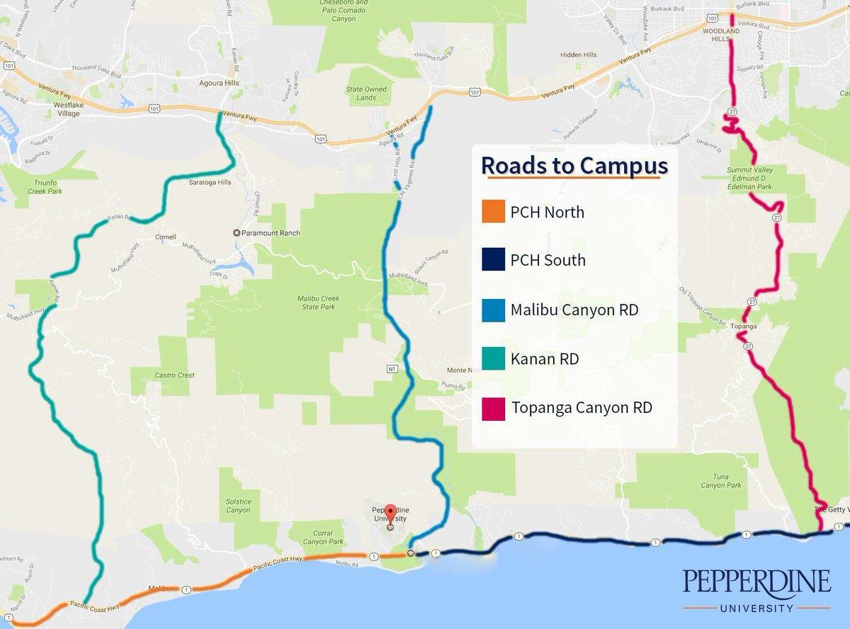 Pepperdine Malibu Campus Map.Pepperdine University On Twitter Malibu Traffic Pch Is Closed In