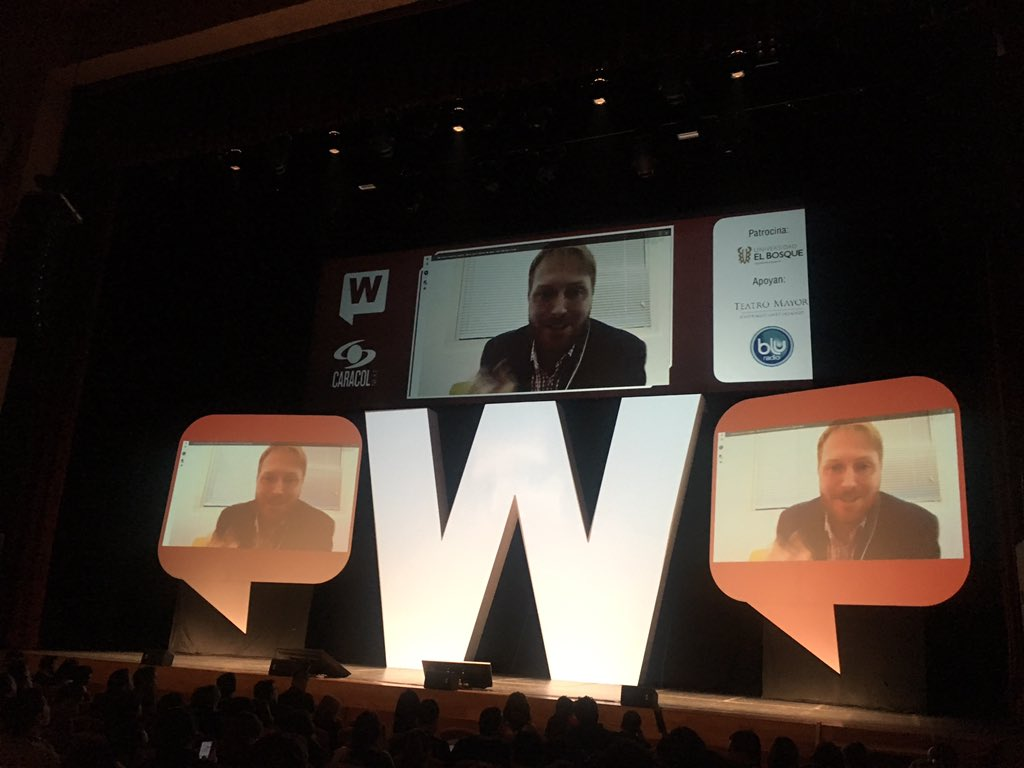 Desde #SiliconValley habla en el #WebCongress Wes Finley, experto en marketing digital y algoritmo con Maschine learning y Big data https://t.co/g46YcKHbZT