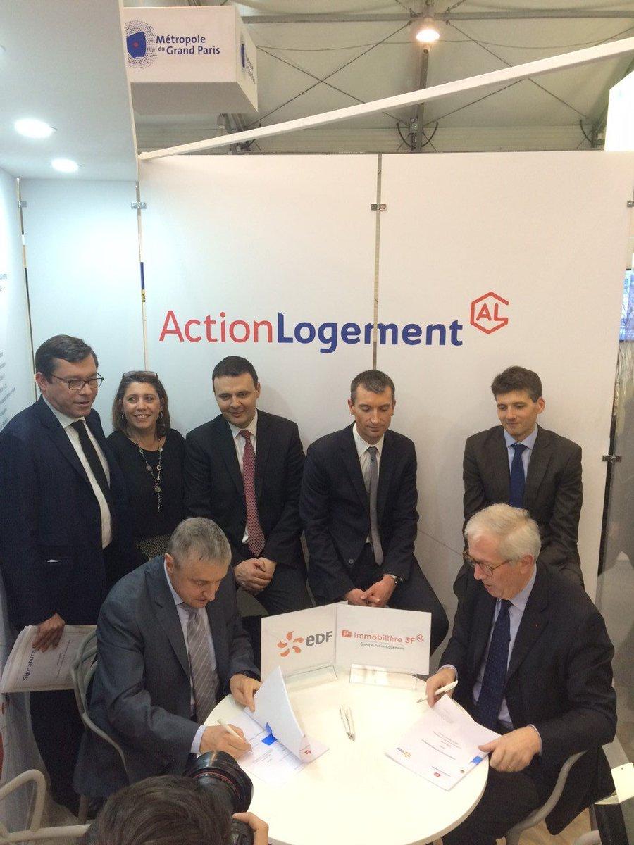 Signature d&#39;un partenariat entre @3F_Officiel et #EDF pour la #transitionenergetique dans le logement social au #SMIDF cc @yannick_duport<br>http://pic.twitter.com/9w6Snq1cT8