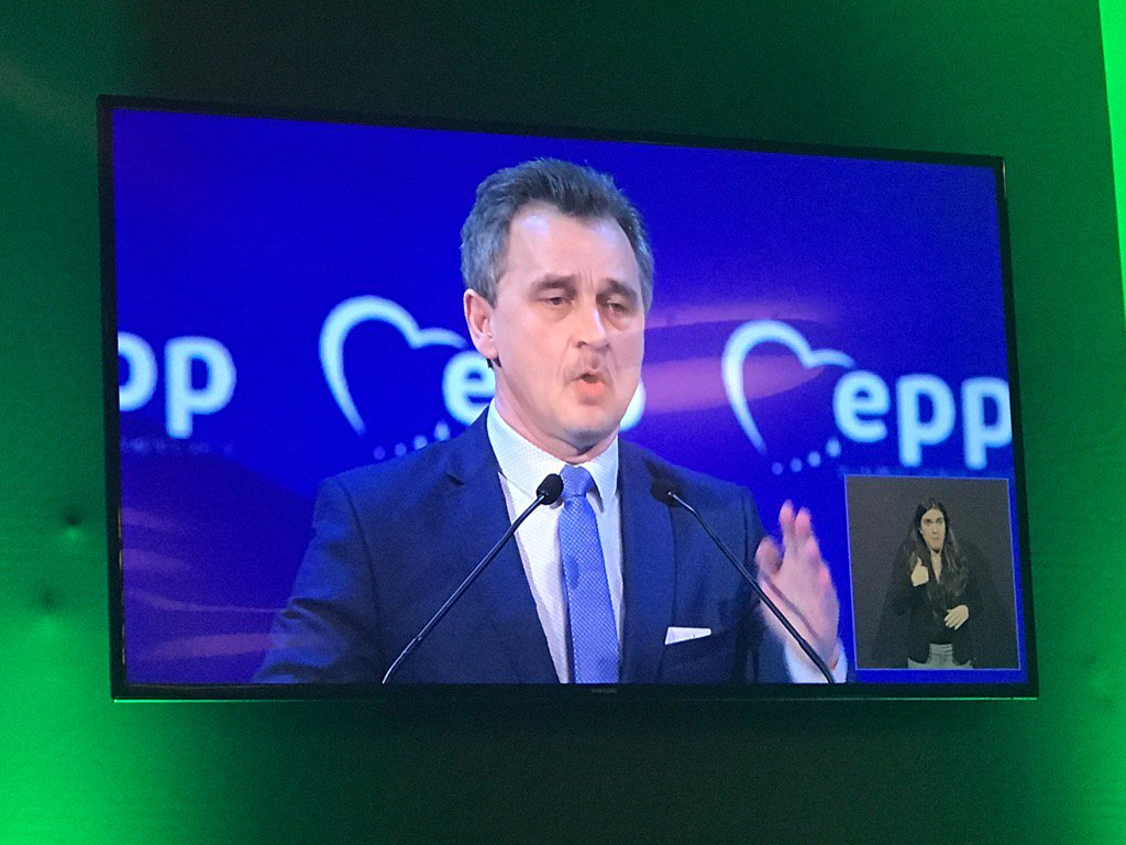 Powerful appeal by Belarus opposition leader Anatoly Lebedko at #EPPMa...