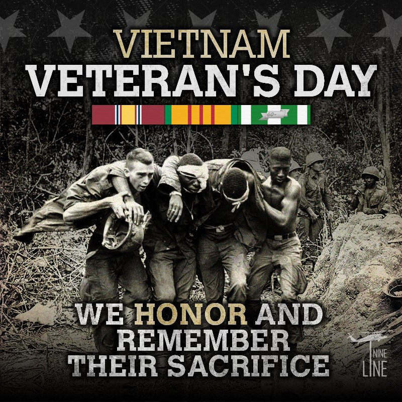 Today OUR #war #veterans are remembered and #honored for their #service in #Vietnam. #VietnamVeteransDay<br>http://pic.twitter.com/p37ewZX7l2