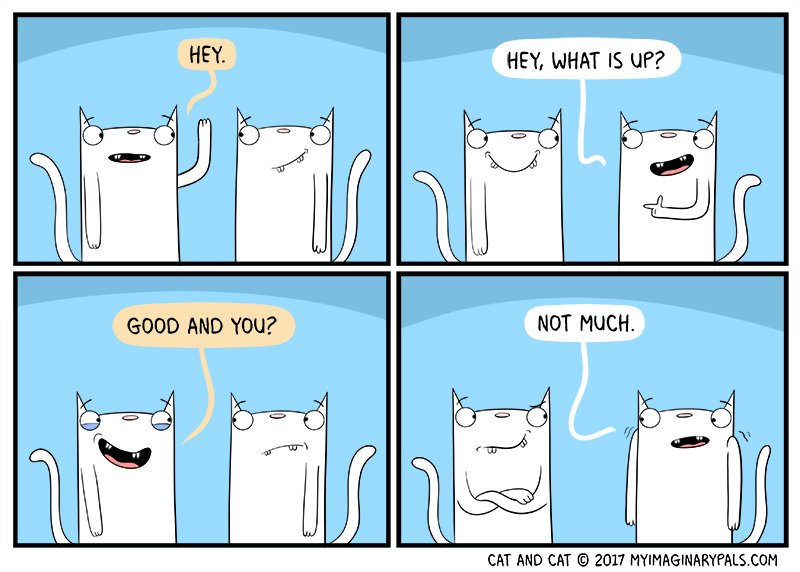 #how #many #have #had a #conversation #like #this ?  In #todays #cat and cat #comic #we #learn that #cats don&#39;t always listen. #who #knew?<br>http://pic.twitter.com/OcptWy6S7y