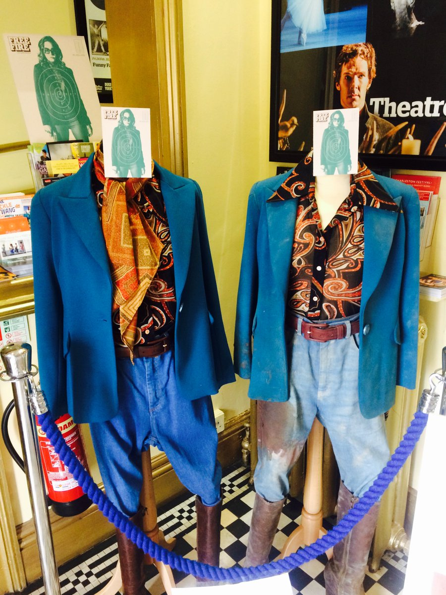 Yes, those are @brielarson's real costumes from #FreeFire. In. Our. Foyer. Come check 'em out! https://t.co/ecMYlT2CAv