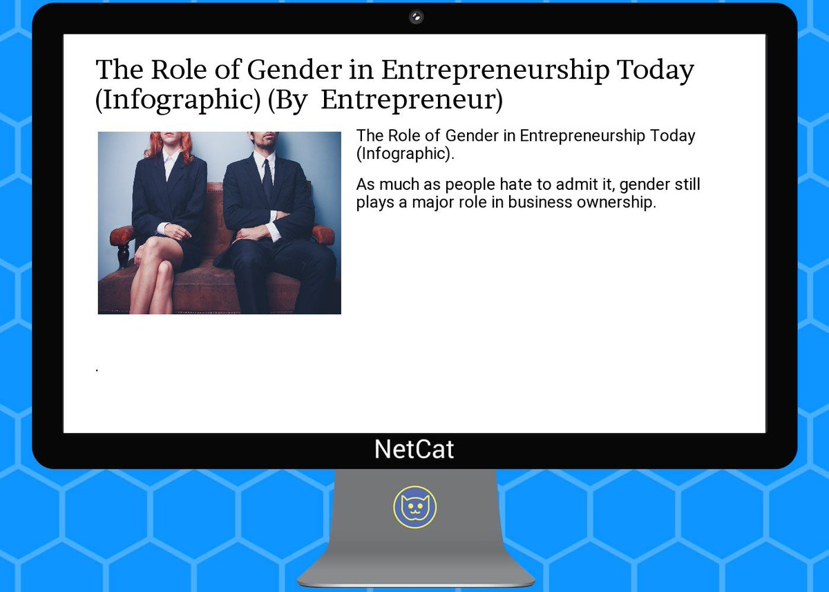 #startup #summary: the  #role of  #gender in  #entrepreneurship  #today (infographic)<br>http://pic.twitter.com/SwjZr03NOH