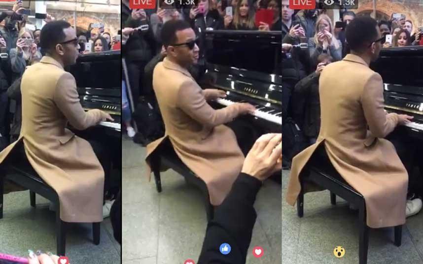 MT @telemusicnews: John Legend surprises commuters with an impromptu g...