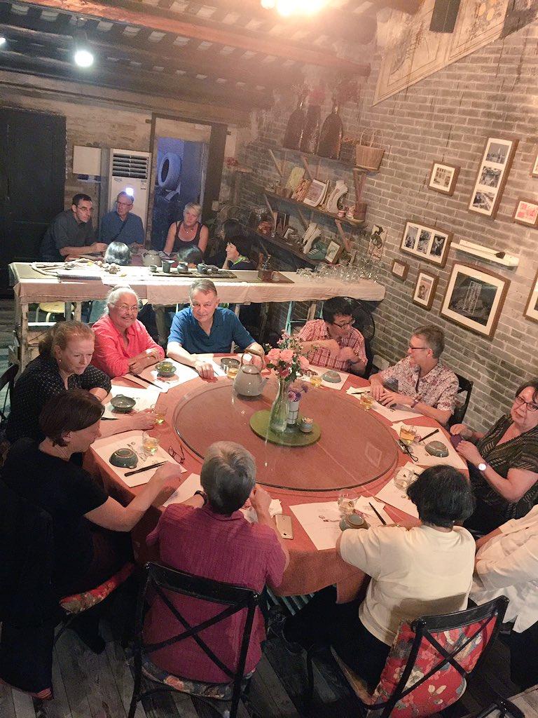 Dinner at Time1912 restaurant in Sanxi village, Zhongshan. #cahht17 https://t.co/I5ZANs81e4
