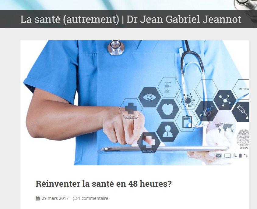 Sur mon blog @letemps Réinventer la santé en 48 heures?  https:// blogs.letemps.ch/dr-jean-gabrie l-jeannot/2017/03/29/reinventer-la-sante-en-48-heures/ &nbsp; …  #Sante #eSante #Valais #HackingHealth<br>http://pic.twitter.com/tJTk6jvVf9