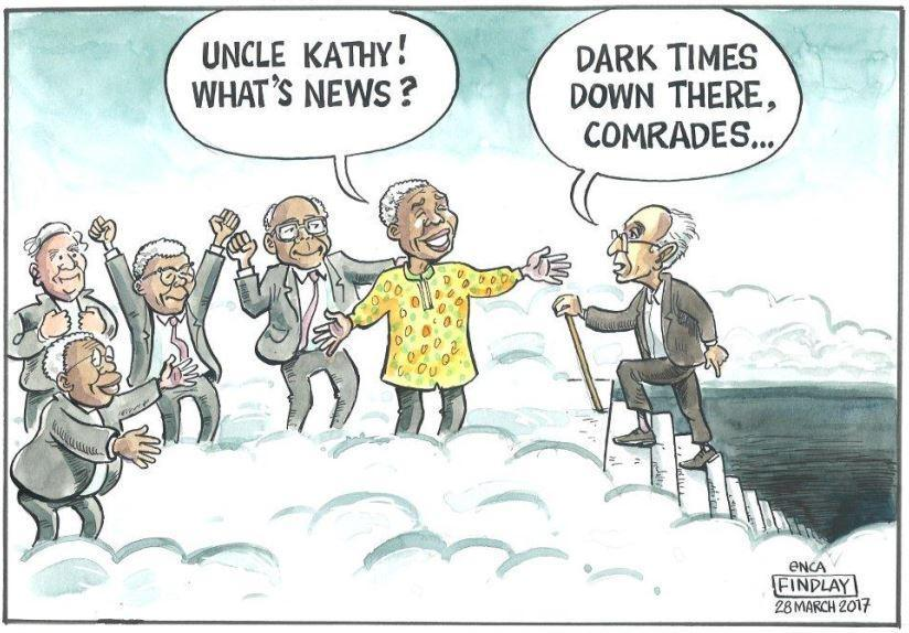 #eNCAcartoon: Findlay: RIP Uncle Kathy #KathradaFuneral https://t.co/h...