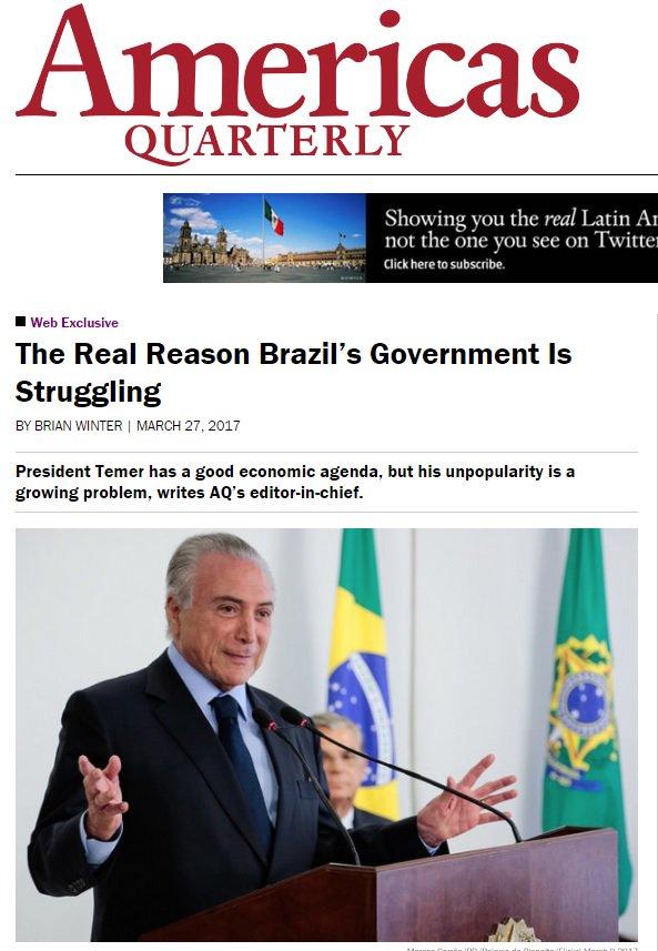 Carne Fraca expôs ao mundo a corrupção sistêmica do país, dizem analis...