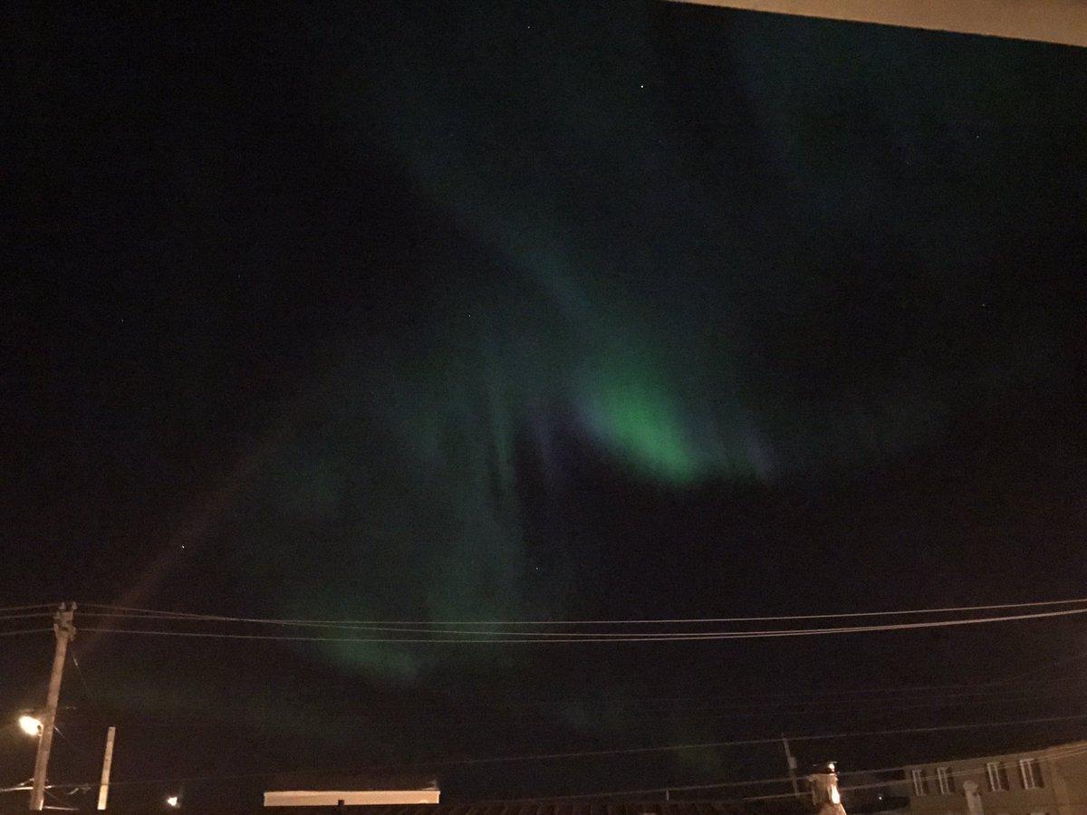 The Northern lights were dancing away last night. It&#39;s always so neat to watch. #iqaluit #Nunavut #northern lights #amazing @MurphTWN<br>http://pic.twitter.com/54ZnOQfYlP