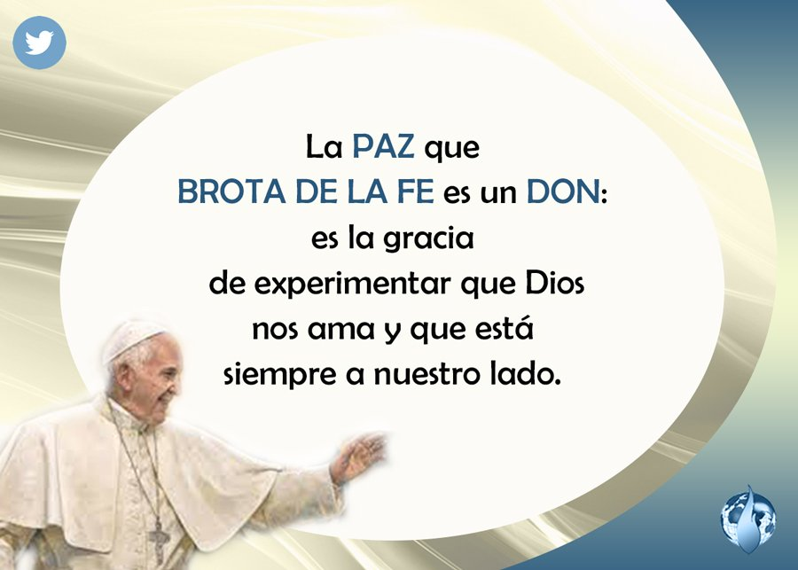 HOY @Pontifex_es dijo... #Paz <br>http://pic.twitter.com/kR8UfNbp4L