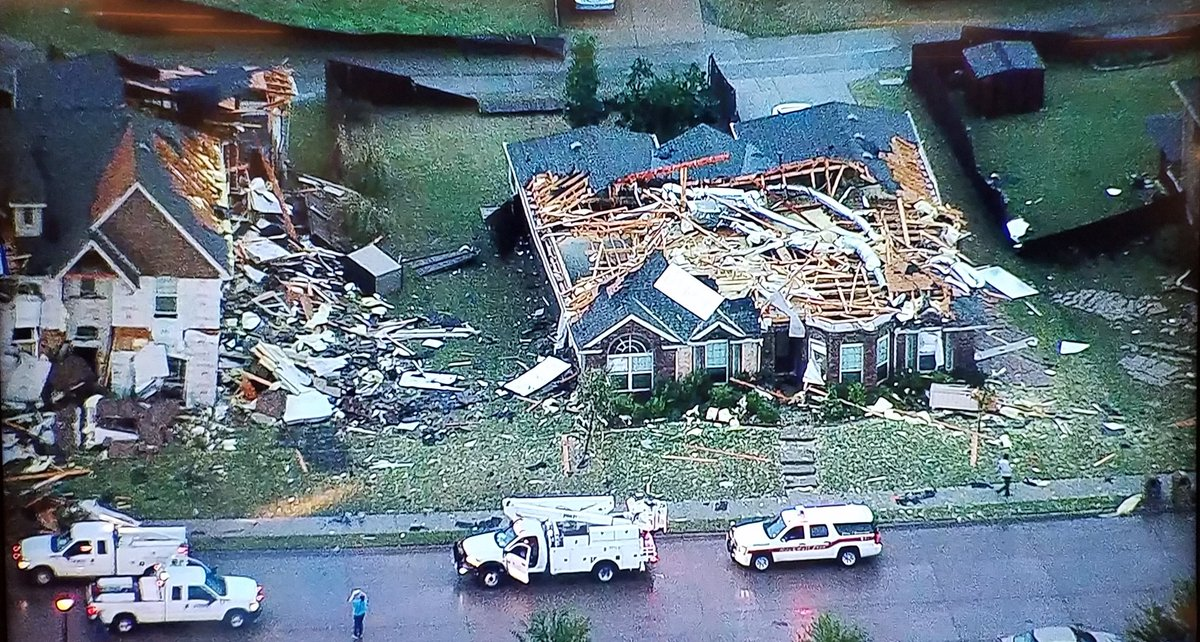 Chopper 11 is now above Rockwall. Dalton Ranch was hit particularly ha...