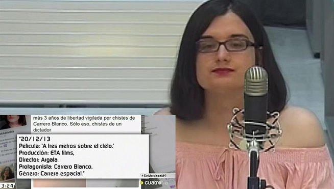 Cassandra Vera condannata ad un anno di prigione per 13 tweets su Carrero Blanco