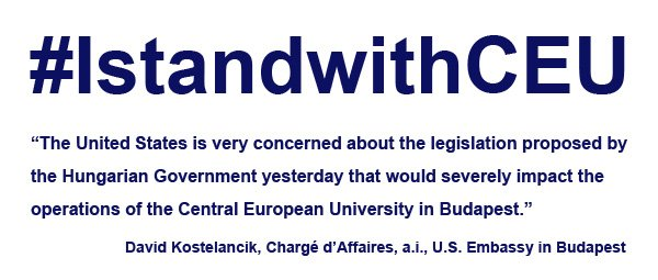 Statement by Chargé Kostelancik about @ceuhungary. Read the full text here: https://t.co/lyAYxpqEMv #IstandwithCEU https://t.co/MJ7eThlMay