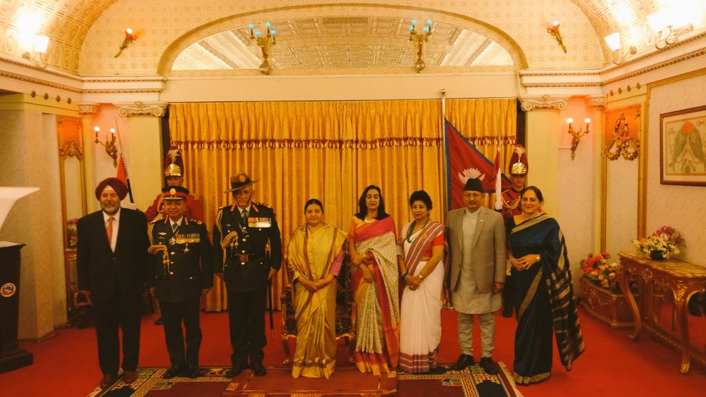 As part of age old tradition, Indian and Nepal Army Chief\'s are Honourary General of each others Army.