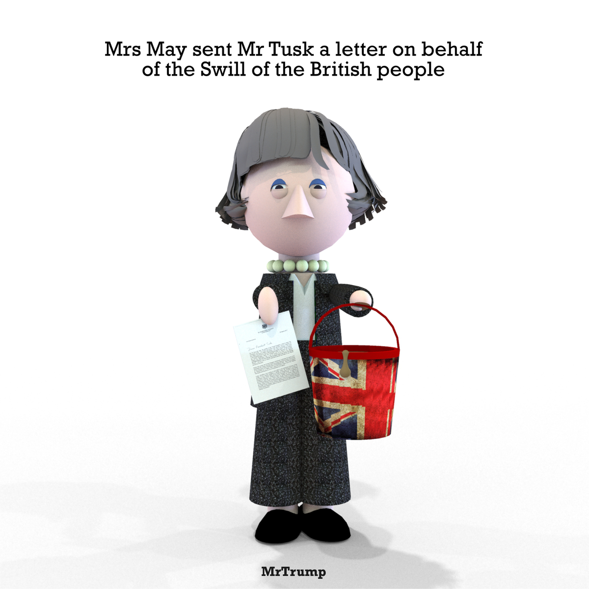 Mrs May sent Mr Tusk a letter on behalf of the Swill of the British people  #Article50 #NotMyLetter #BrexitDay