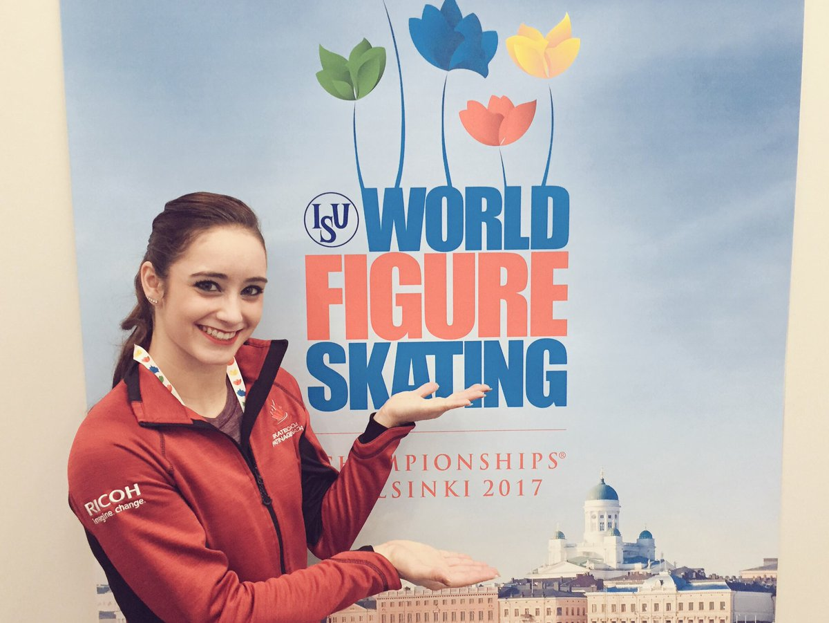 Amazing energy from Kaetlyn Osmond during her short! She is in 2nd pla...