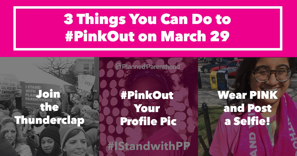 #PinkOut with us today to show you'll keep fighting for our health, ri...