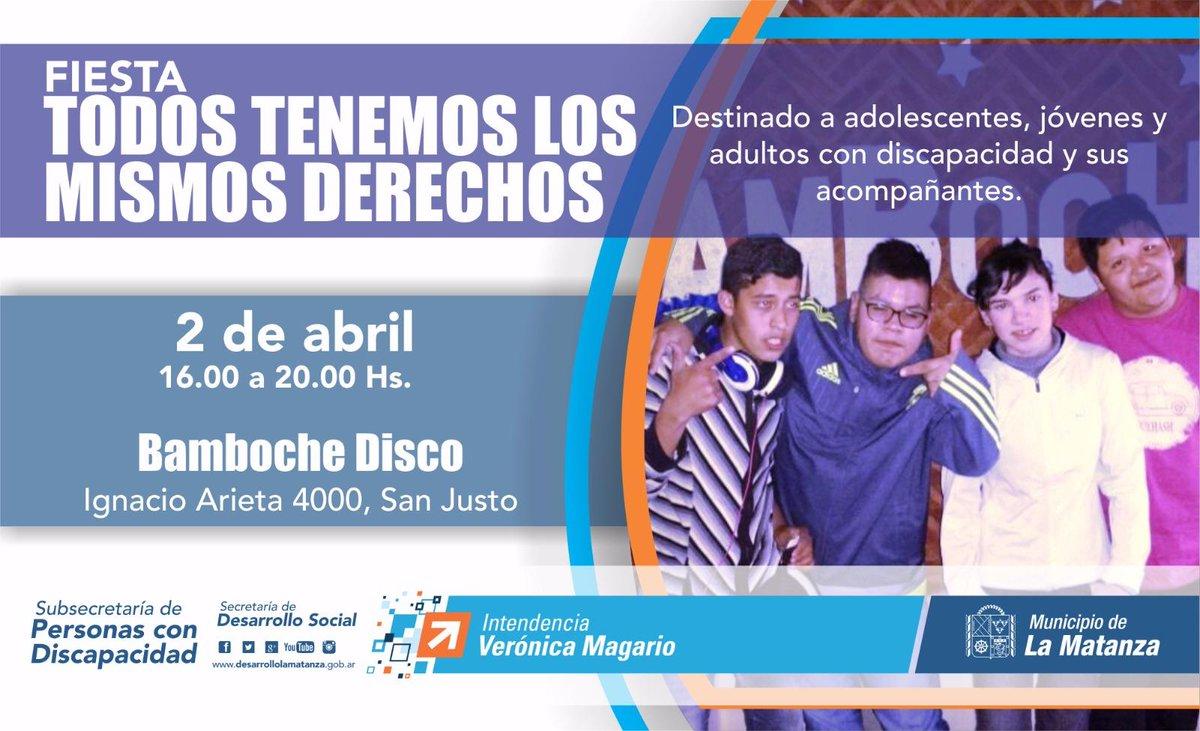 """Este domingo 2 de abril te invitamos a la fiesta """"Todos Tenemos Los Mismos #Derechos"""" en Bamboche Disco. Vení a #bailar y disfrutar  <br>http://pic.twitter.com/uZnYMg0ALc"""