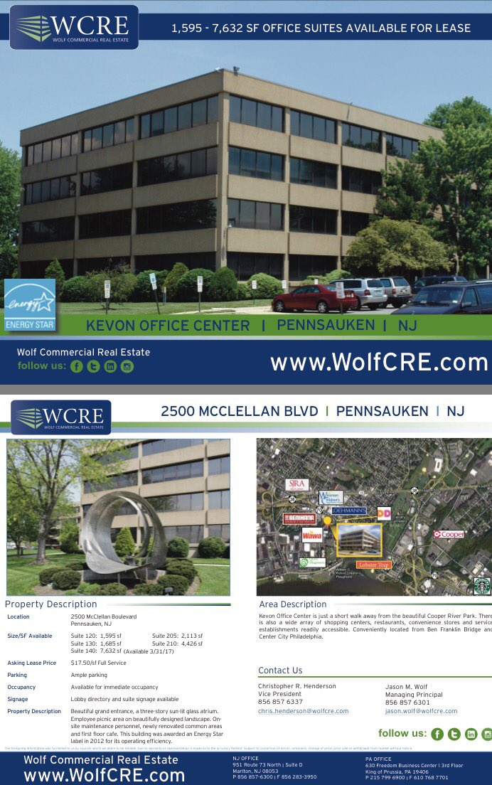 PREMIER OFFICE SPACE AVAILABLE @ KEVON OFFICE CENTER,  #PENNSAUKEN #NewJersey #NJ #SouthJersey #RealEstate  http:// bit.ly/2nM1IbY  &nbsp;  <br>http://pic.twitter.com/W67oohwhWC
