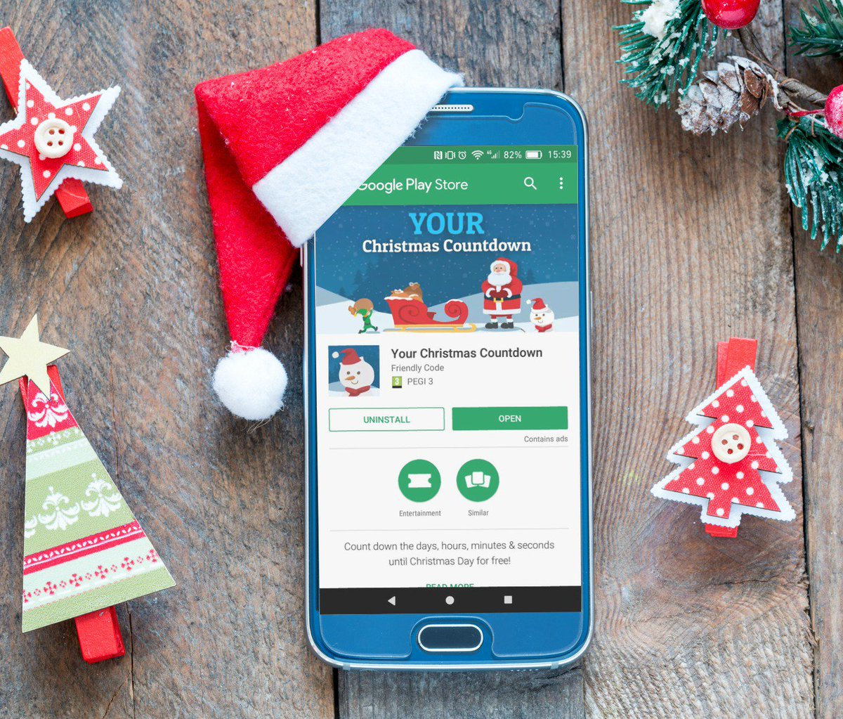 christmas countdown on twitter the wait for android users is over download your christmas countdown for free from the google play store now