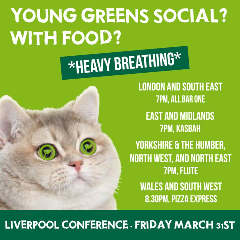 Are you a Young Green heading to #GPConf? Don't miss @YoungGreenParty'...