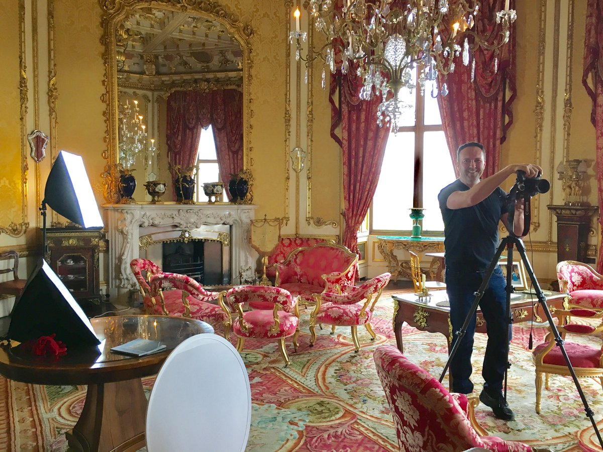 raby castle on twitter behind the scenes snap of photographer and artist jonathan myles lea in our beautiful octagon drawing room