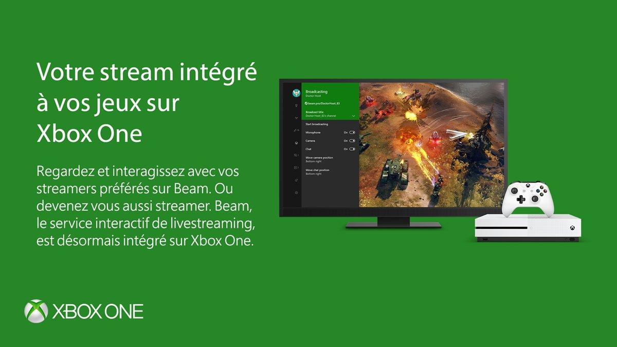 Avec @Beam sur #XboxOne et #Windows10, il vous sera plus facile de commencer le streaming. Pour en savoir plus :  http:// msfr.so/ziEwR7  &nbsp;  <br>http://pic.twitter.com/9qdSYR3lVX