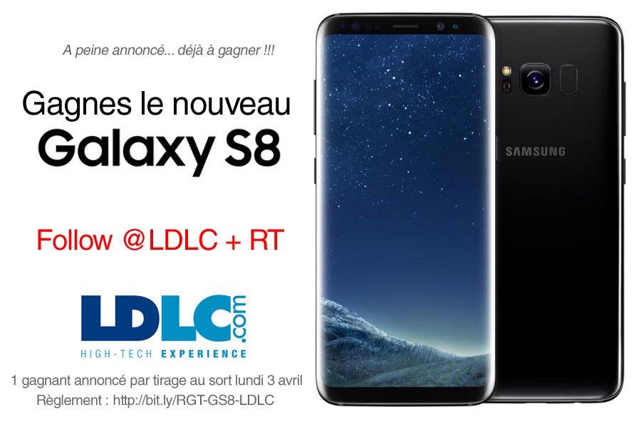 1 #GalaxyS8 à gagner !!! 🤠 Follow @LDLC  + RT ✌🏻#UnboxYourPhone https:...