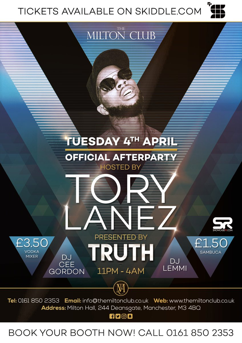 Who's ready for next Tuesday! Official Afterparty hosted by Tory Lanez...