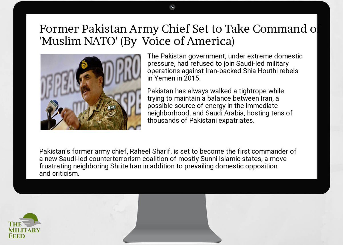 #Defense #News App:  http:// goo.gl/Ggu1EN  &nbsp;   ; former  #pakistan  #army  #chief set to take command of &#39; #muslim nato&#39;<br>http://pic.twitter.com/62B6scBWrK