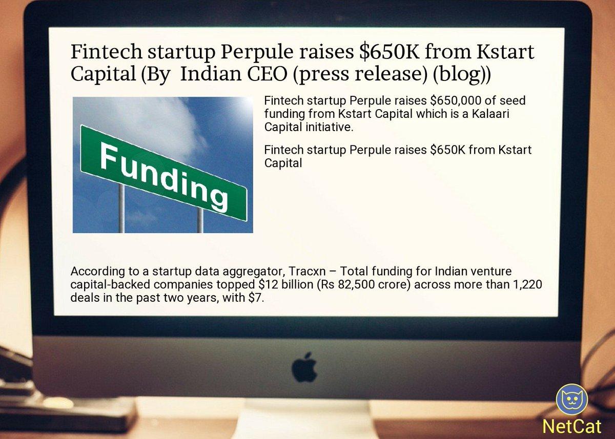 #startup #summary:  #fintech  #startup  #perpule raises $650k from  #kstart  #capital<br>http://pic.twitter.com/dpuJSiVhwq