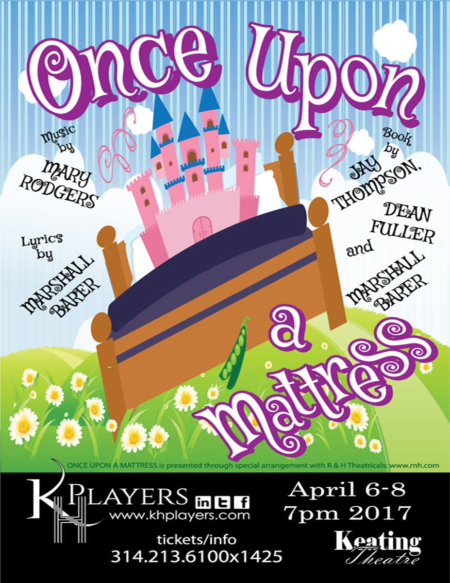 @KHPlayers Will be presenting 'Once Upon a Mattress' next week--you can get  tickets online at: http://bit.ly/KHPlayers pic.twitter.com/4lvtWw6YEf