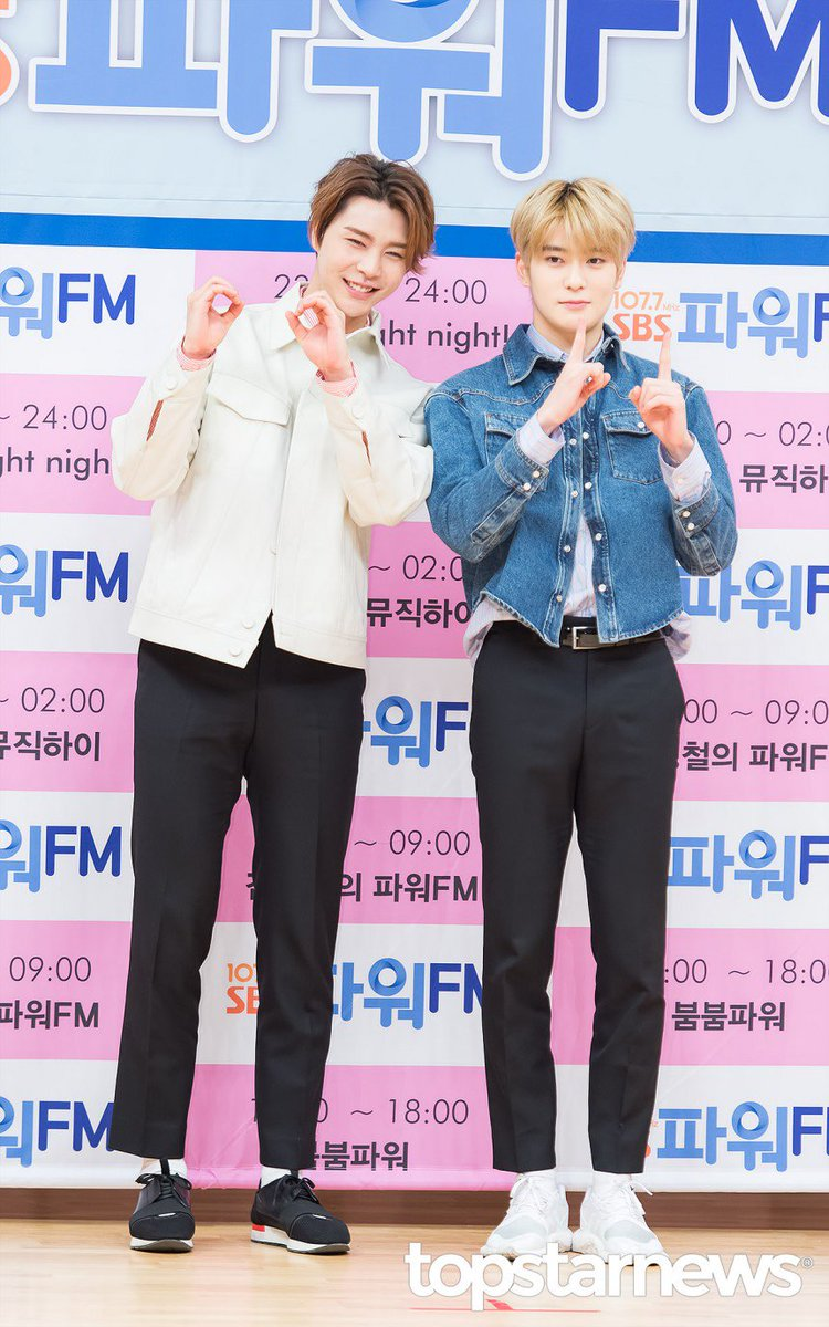 NCT Johnny & Jaehyun at the press conference of '2017 SBS Power FM...