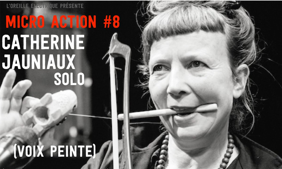 [MICRO-ACTION#8] - Catherine Jauniaux • Voix Peinte - Demain à 19h ! #LaBaignoire #Montpellier #performance #solo   https://www. facebook.com/events/1371537 819563489/ &nbsp; … <br>http://pic.twitter.com/wOsYl8Tj5C