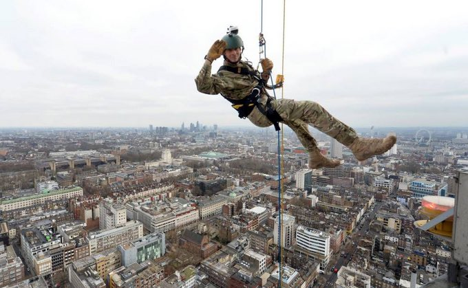 #TBT dropping off the BT tower as part of the Royal Marines Corps fami...