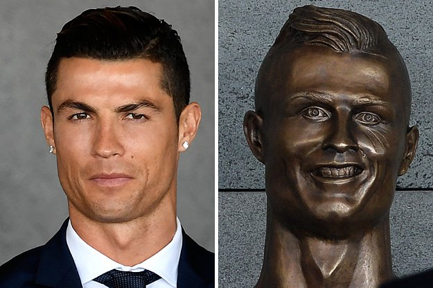 Cristiano Ronaldo was honored with a statue and OMG it's nightmare fue...