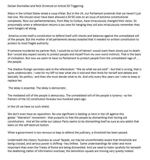 Declan Donnellan & Nick Ormerod on triggering #Article50 https://t.co/pm13Ks2wnK