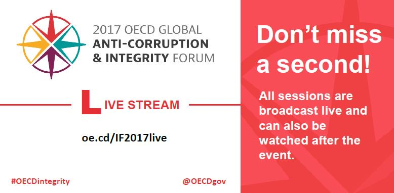 Don't miss a second of the #OECDintegrity Forum - 📺 Watch all sessions...