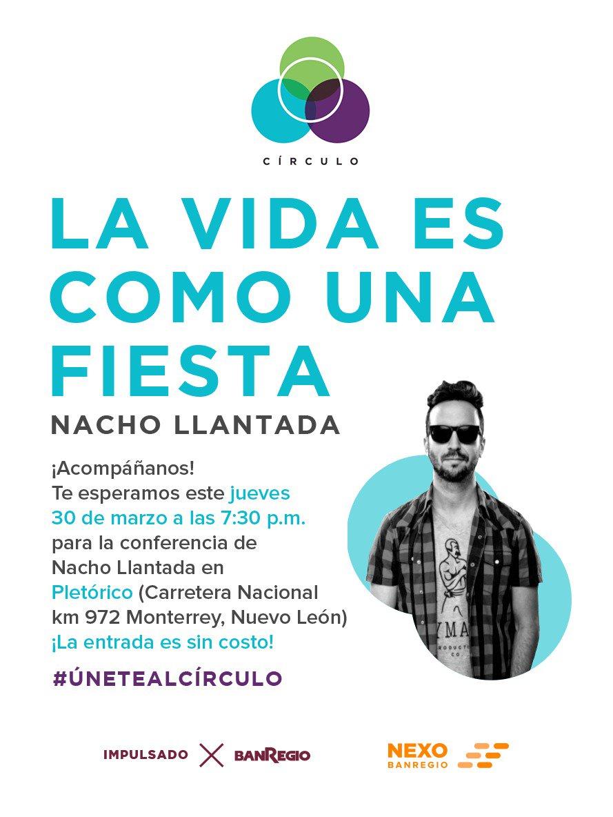 Acompáñanos en una conferencia única de la voz de Nacho Llantada @Nachito10. #ÚneteAlCírculo Regístrate: http://bit.ly/2obwImu