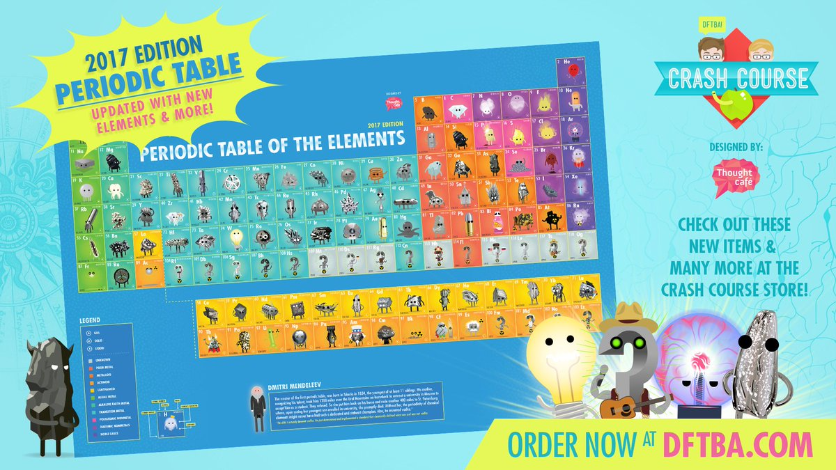 crashcourse on twitter we have a new periodic table poster updated with the new elements available here httpstcoaccgqkagb5 - Periodic Table Of Elements New Edition