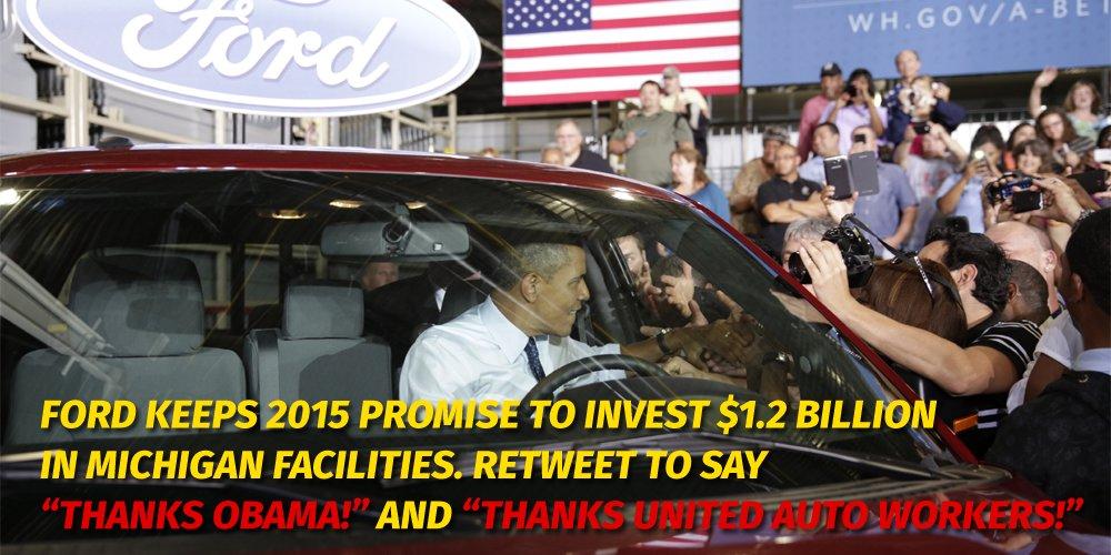 Thanks @BarackObama #ThanksObama.  Thanks @UAW!<br>http://pic.twitter.com/L9MBOUhmyI